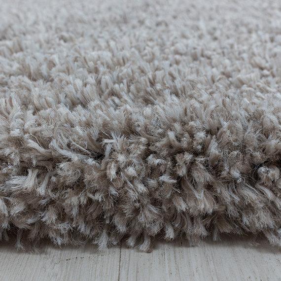 Adana Carpets Rond hoogpolig vloerkleed - Fuzzy Beige