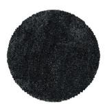Adana Carpets Rond hoogpolig vloerkleed - Fuzzy Antraciet
