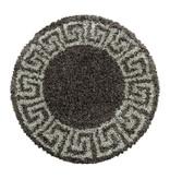 Adana Carpets Rond modern vloerkleed - Greece Bruin Taupe