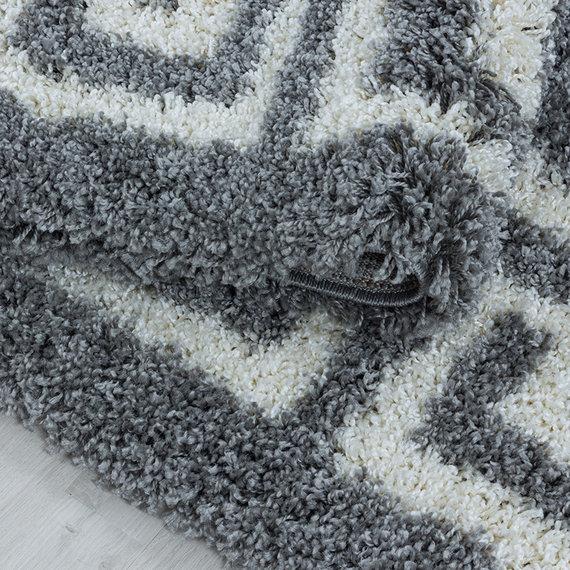 Adana Carpets Rond modern vloerkleed - Greece Grijs Creme
