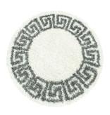 Adana Carpets Rond modern vloerkleed - Greece Creme Grijs