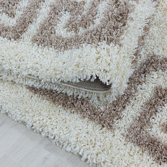 Adana Carpets Rond modern vloerkleed - Greece Creme Beige