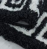 Adana Carpets Rond modern vloerkleed - Greece Antraciet Creme