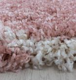 Adana Carpets Rond berber vloerkleed - Agadir Circle Roze Creme
