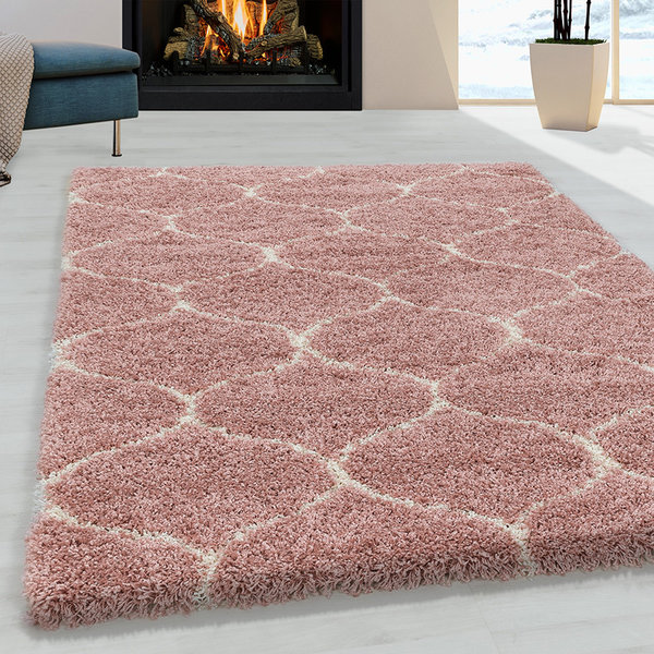 Adana Carpets Berber vloerkleed - Agadir Circle Roze Creme