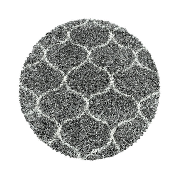 Adana Carpets Rond berber vloerkleed - Agadir Circle Grijs Creme