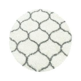 Adana Carpets Rond berber vloerkleed - Agadir Circle Creme Grijs