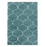 Adana Carpets Berber vloerkleed - Agadir Circle Blauw Creme