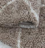 Adana Carpets Rond berber vloerkleed - Agadir Circle Beige Creme