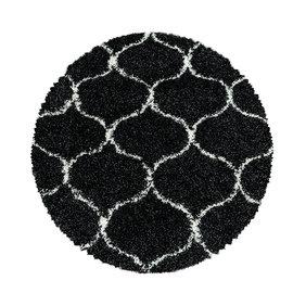 Adana Carpets Rond berber vloerkleed - Agadir Circle Antraciet Creme