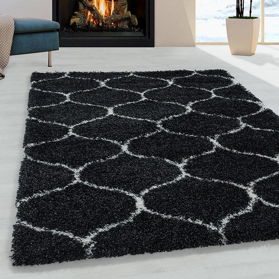 Adana Carpets Berber vloerkleed - Agadir Circle Antraciet Creme