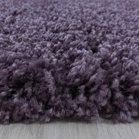 Adana Carpets Rond hoogpolig vloerkleed - Softy Paars