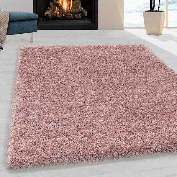Hoogpolig vloerkleed - Softy Roze