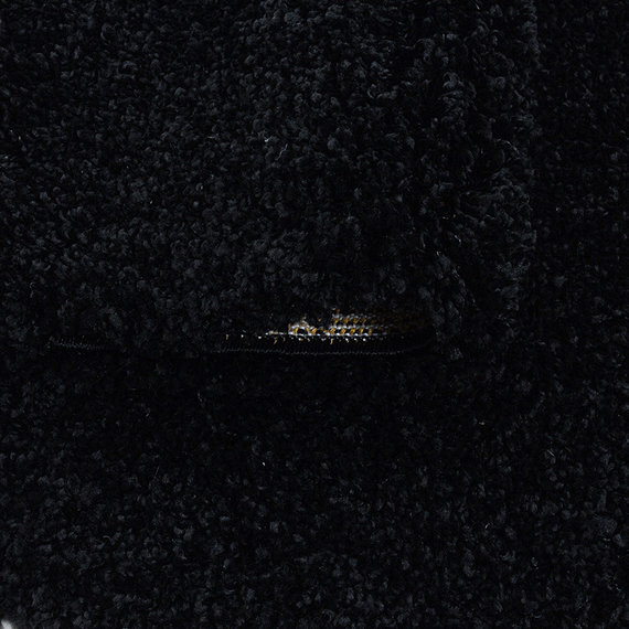 Adana Carpets Hoogpolig vloerkleed - Softy Zwart