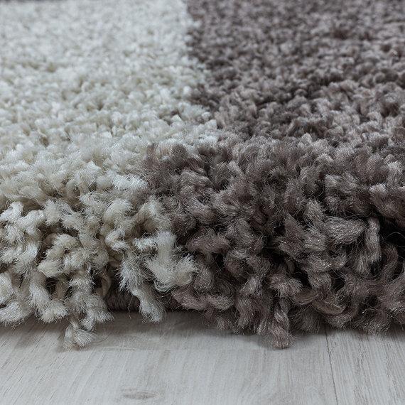 Adana Carpets Rond hoogpolig vloerkleed - Tuggy Taupe