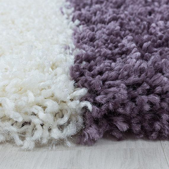 Adana Carpets Rond hoogpolig vloerkleed - Tuggy Paars