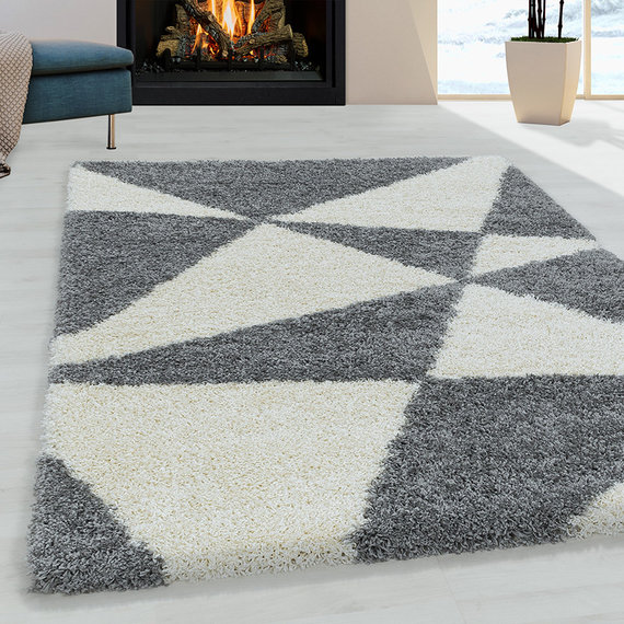 Adana Carpets Hoogpolig vloerkleed - Tuggy Grijs