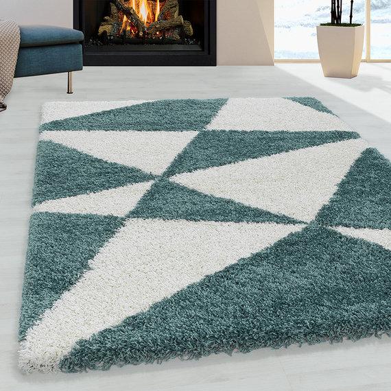 Adana Carpets Hoogpolig vloerkleed - Tuggy Blauw