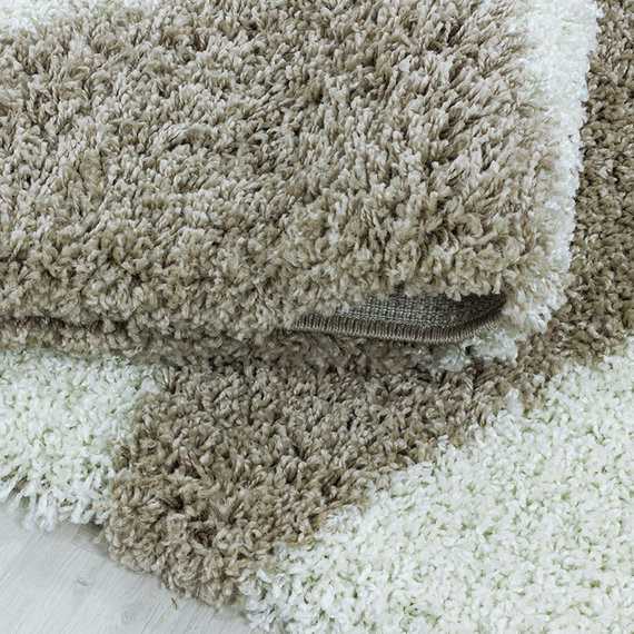 Adana Carpets Rond hoogpolig vloerkleed - Tuggy Beige