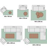 Adana Carpets Modern vloerkleed - Optimism Box Taupe Grijs