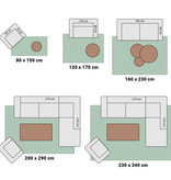 Adana Carpets Modern vloerkleed - Streaky Lines Zwart