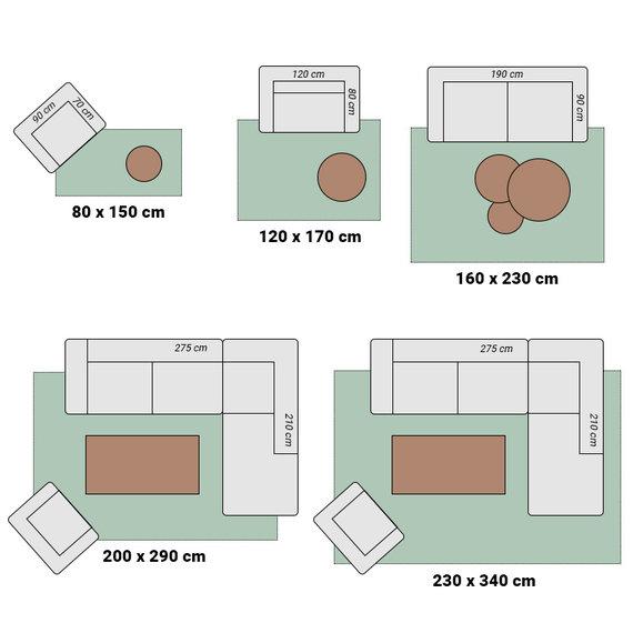 Adana Carpets Modern vloerkleed - Marble Box Grijs Bruin