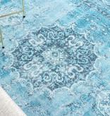 FRAAI Vintage Vloerkleed - Estate Medaillon Lichtblauw