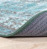 FRAAI Vintage Vloerkleed - Estate Medaillon Blauw groen