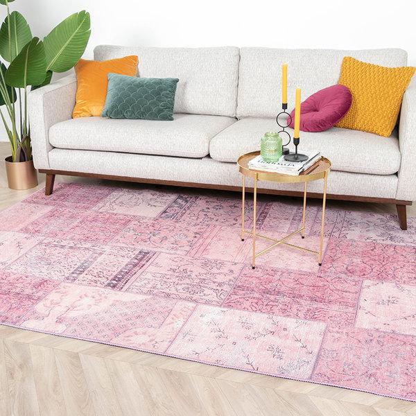 Patchwork vloerkleed - Estate Roze