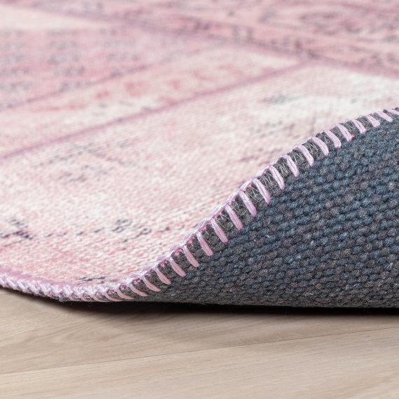FRAAI Vintage patchwork vloerkleed - Estate Roze