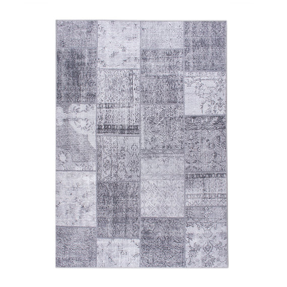 FRAAI Vintage patchwork Vloerkleed - Estate Grijs