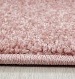 Adana Carpets Rond laagpolig vloerkleed - Asa Roze