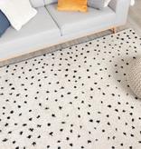 FRAAI Hoogpolig vloerkleed - Grand Dots Creme/Zwart
