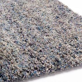 Brinker carpets Wollen vloerkleed  - Salsa 065 Grijs/Blauw