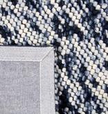 Rebelle Wol bolletjesvloerkleed - Madeleine Zwart/Wit