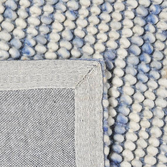 Rebelle Wol bolletjesvloerkleed - Madeleine Blauw/Beige