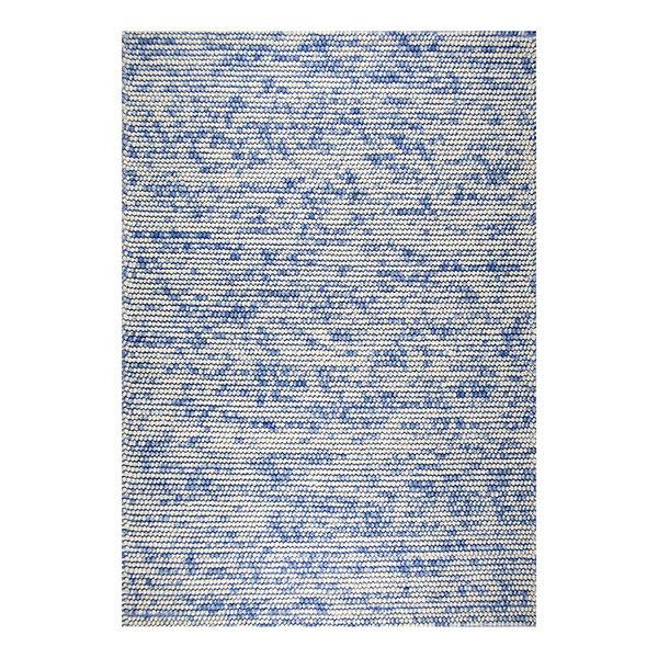 Wol bolletjesvloerkleed - Madeleine Blauw/Beige