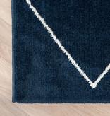 FRAAI Zacht Vloerkleed Ambiance - Lines Blauw Wit