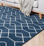 FRAAI Zacht Vloerkleed Ambiance - Pattern Blauw Wit