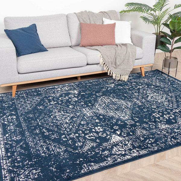 Zacht Vloerkleed Ambiance - Oriental Blauw Wit