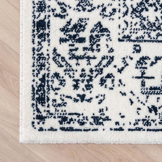 FRAAI Zacht Vloerkleed Ambiance - Oriental Wit Blauw