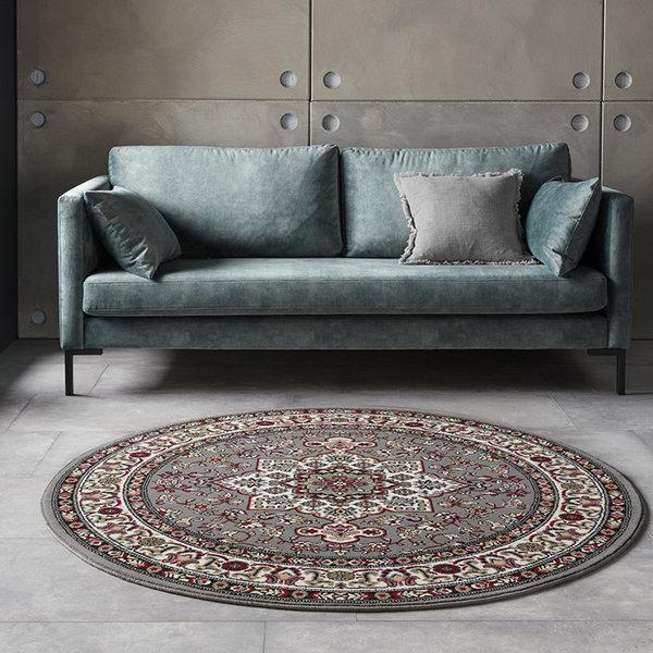 Rond Perzisch tapijt - Mirkan Parun Grijs Multicolor