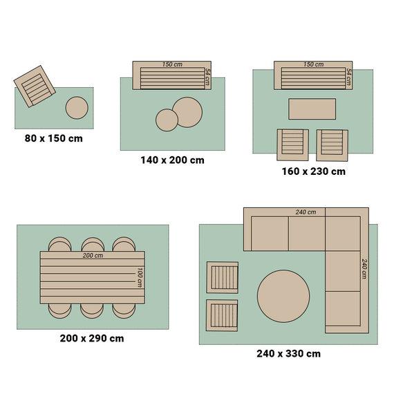 Bougari Buiten vloerkleed - Twin Cubes Zwart/Creme