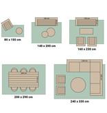 Bougari Buiten vloerkleed - Twin Cubes Grijs/Creme