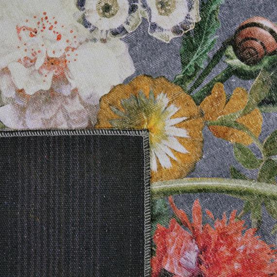 Rebelle Bloemen vloerkleed - Fleur Grijs