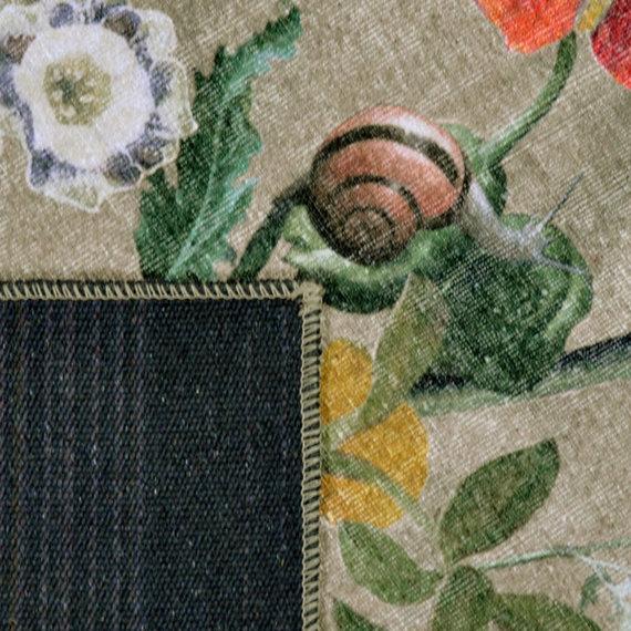 Rebelle Bloemen vloerkleed - Fleur beige/multi