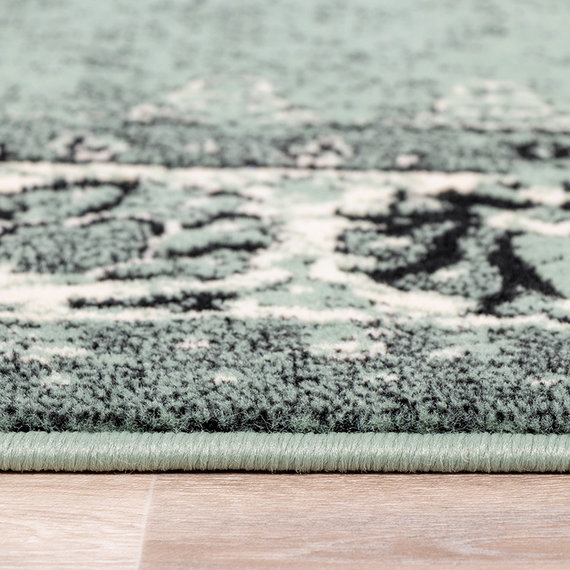 FRAAI Vintage vloerkleed - Wonder Groen/Zwart