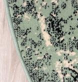 FRAAI Rond vintage vloerkleed - Wonder Groen/Zwart