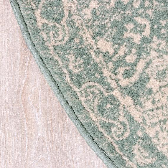 FRAAI Rond vintage vloerkleed - Wonder Oriental Groen