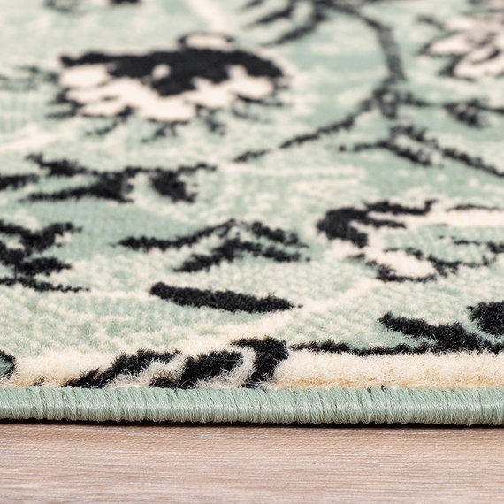 FRAAI Vintage vloerkleed - Wonder Patchwork Groen/Zwart